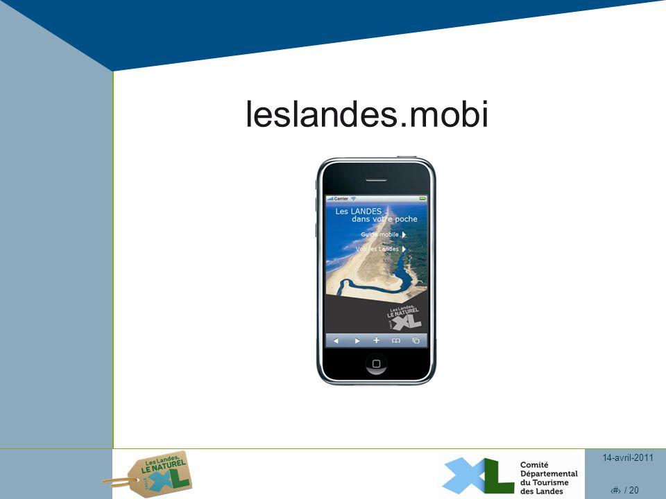 14-avril-2011 5 / 20 leslandes.mobi