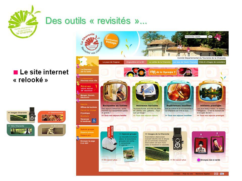 Le site internet « relooké » Des outils « revisités »...