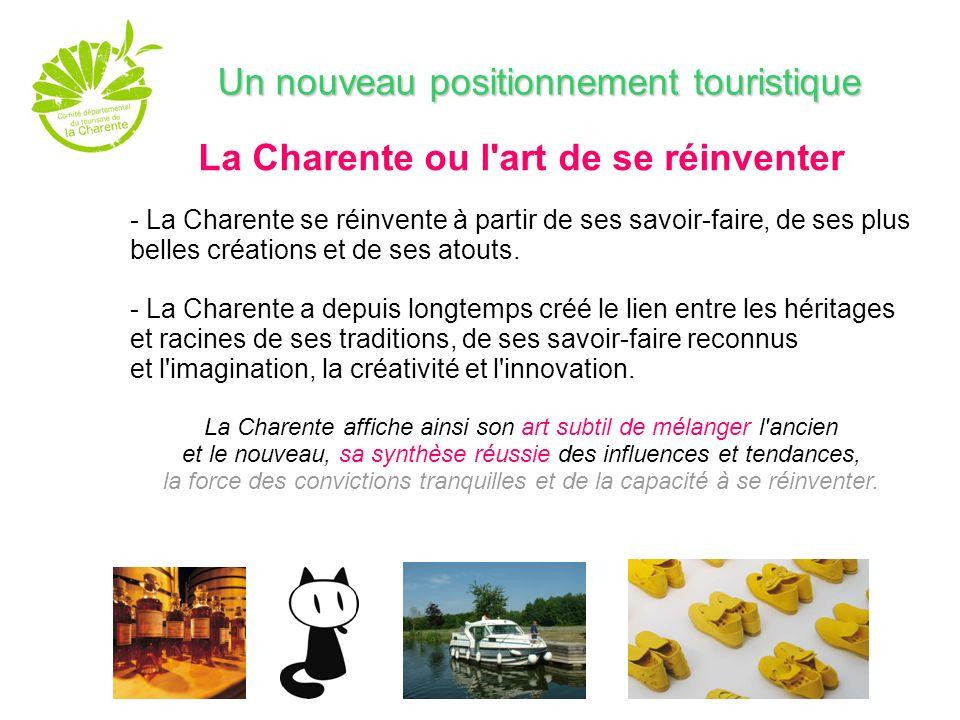 Un positionnement La Charente DESTINATION VINTAGE Une notion inédite dans le tourisme en France