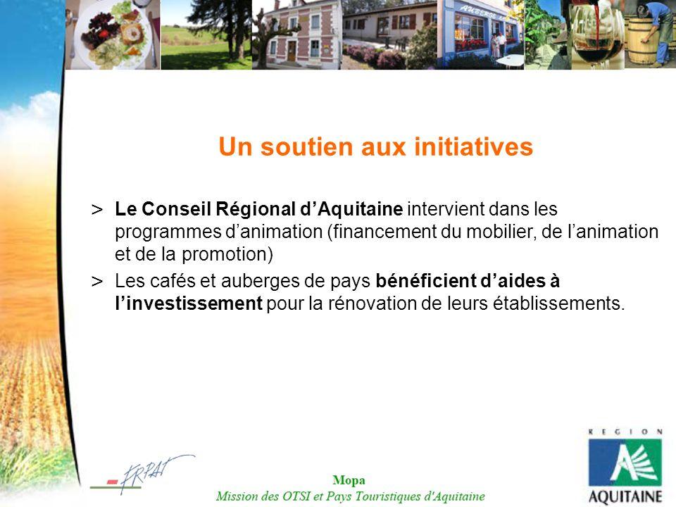 Un soutien aux initiatives > Le Conseil Régional dAquitaine intervient dans les programmes danimation (financement du mobilier, de lanimation et de la