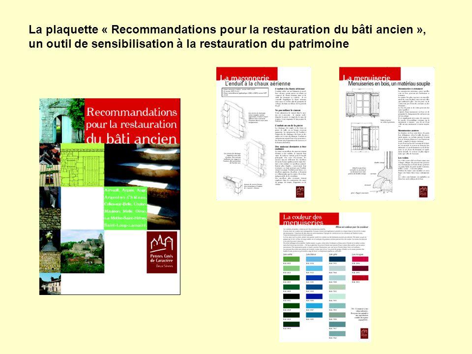 La plaquette « Recommandations pour la restauration du bâti ancien », un outil de sensibilisation à la restauration du patrimoine