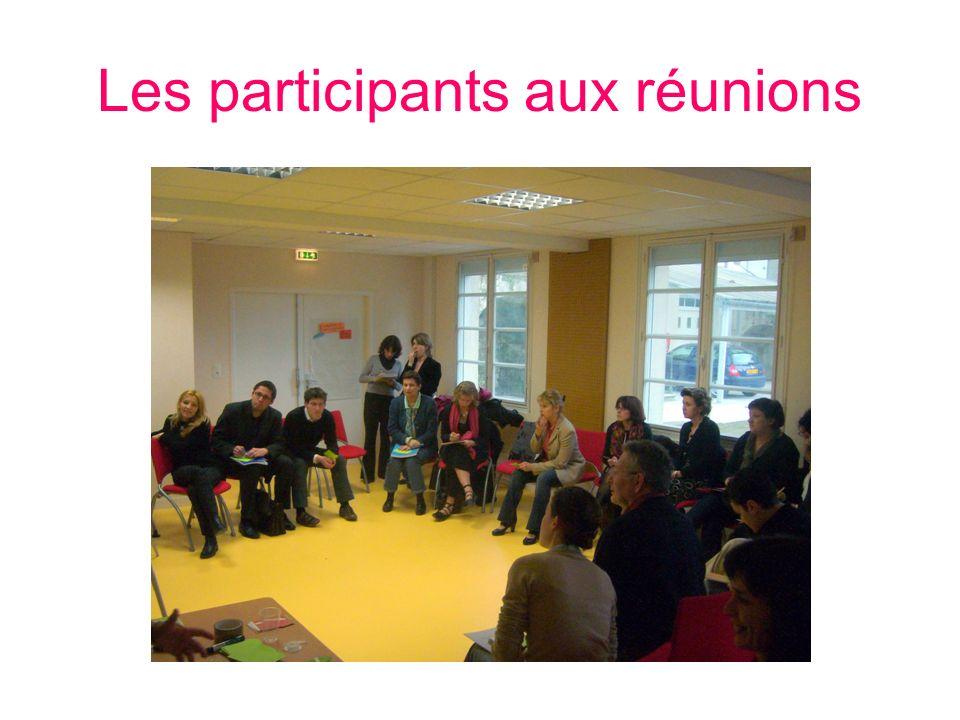 Les participants aux réunions