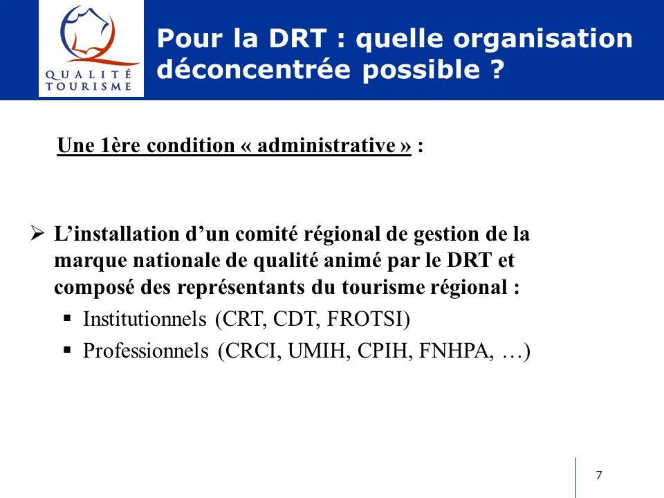 8 Pour la DRT : quelle organisation déconcentrée possible .