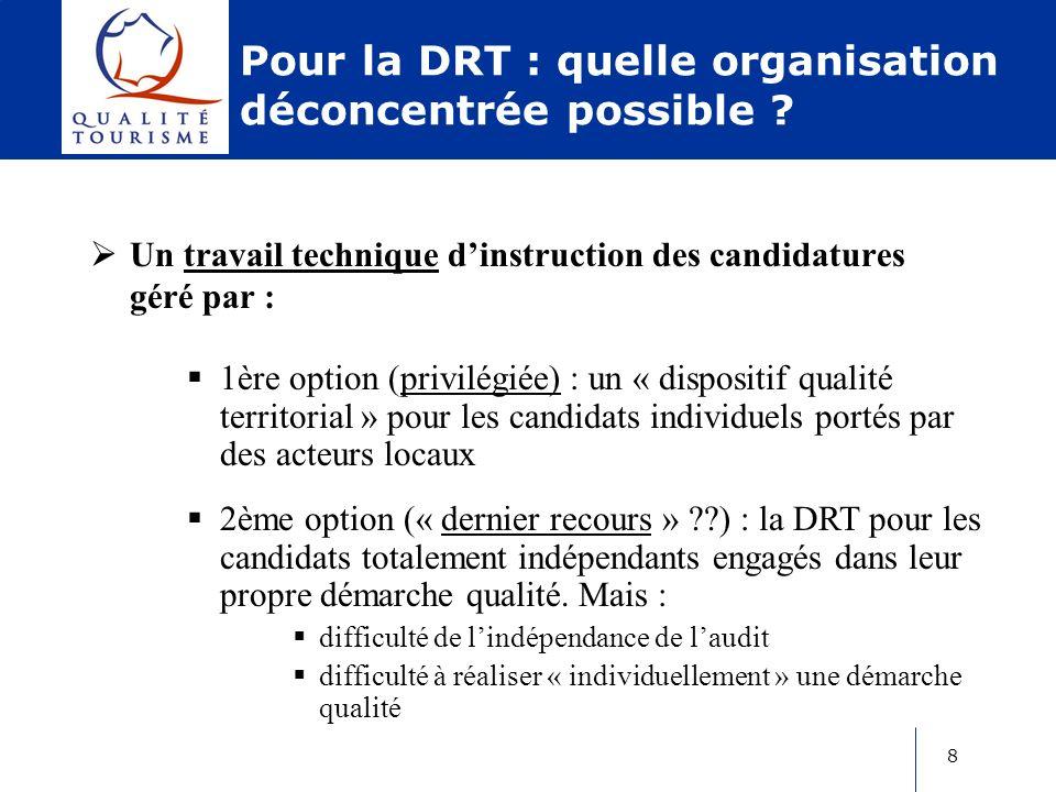 9 Pour la DRT : quelles perspectives en Poitou- Charentes .