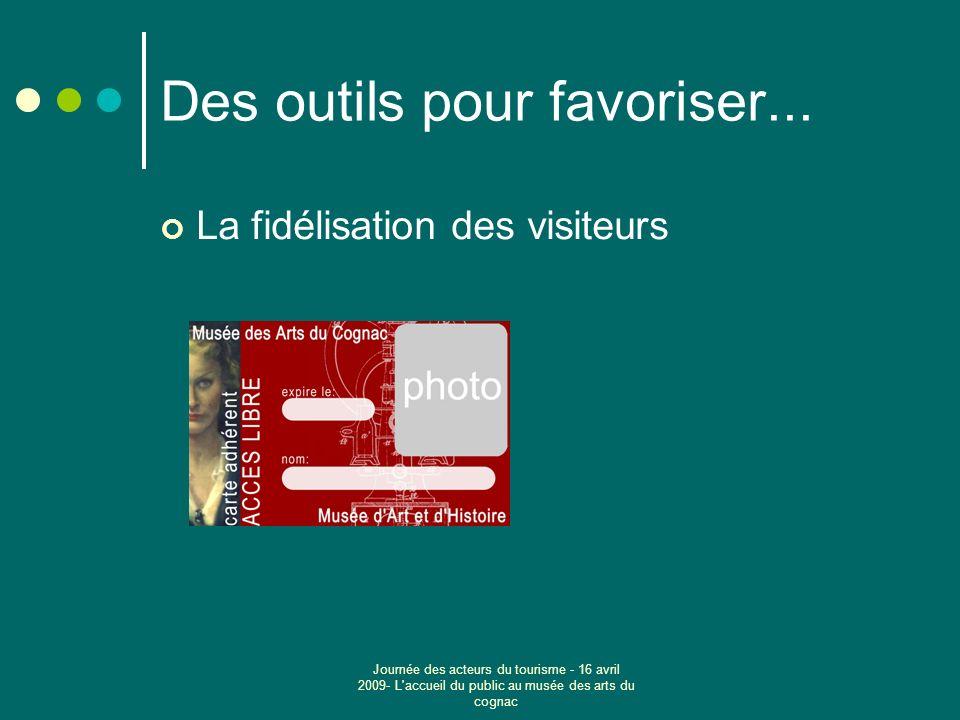 Journée des acteurs du tourisme - 16 avril 2009- L accueil du public au musée des arts du cognac Des outils pour favoriser...