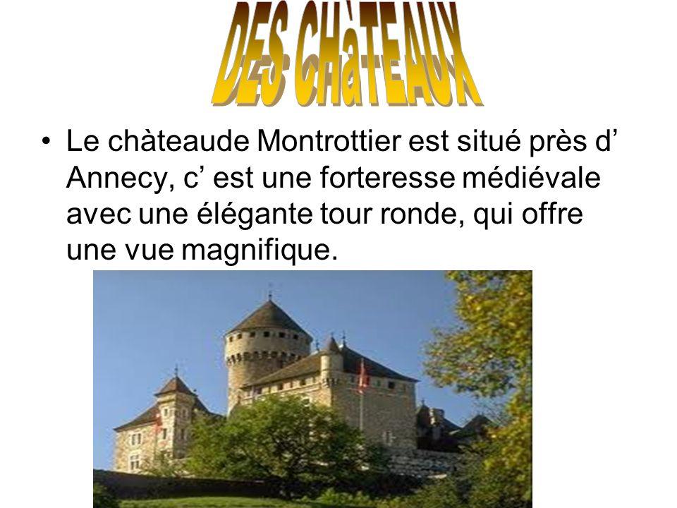 Le chàteaude Montrottier est situé près d Annecy, c est une forteresse médiévale avec une élégante tour ronde, qui offre une vue magnifique.