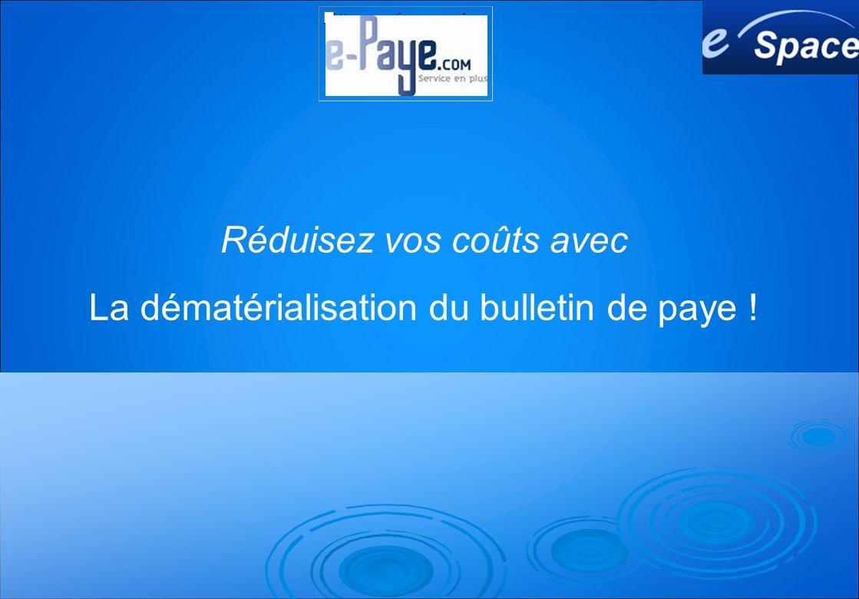 Réduisez vos coûts avec La dématérialisation du bulletin de paye !