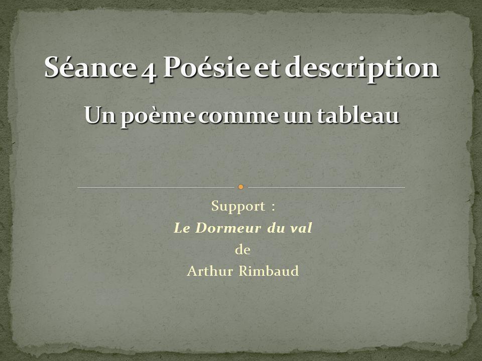 Support : Le Dormeur du val de Arthur Rimbaud