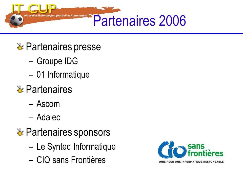 Partenaires presse –Groupe IDG –01 Informatique Partenaires –Ascom –Adalec Partenaires sponsors –Le Syntec Informatique –CIO sans Frontières Partenair