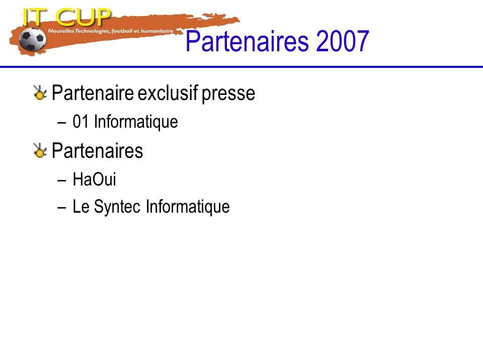 Partenaire exclusif presse –01 Informatique Partenaires –HaOui –Le Syntec Informatique Partenaires 2007