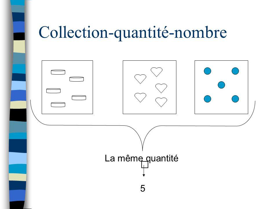 Collection-quantité-nombre La même quantité 5