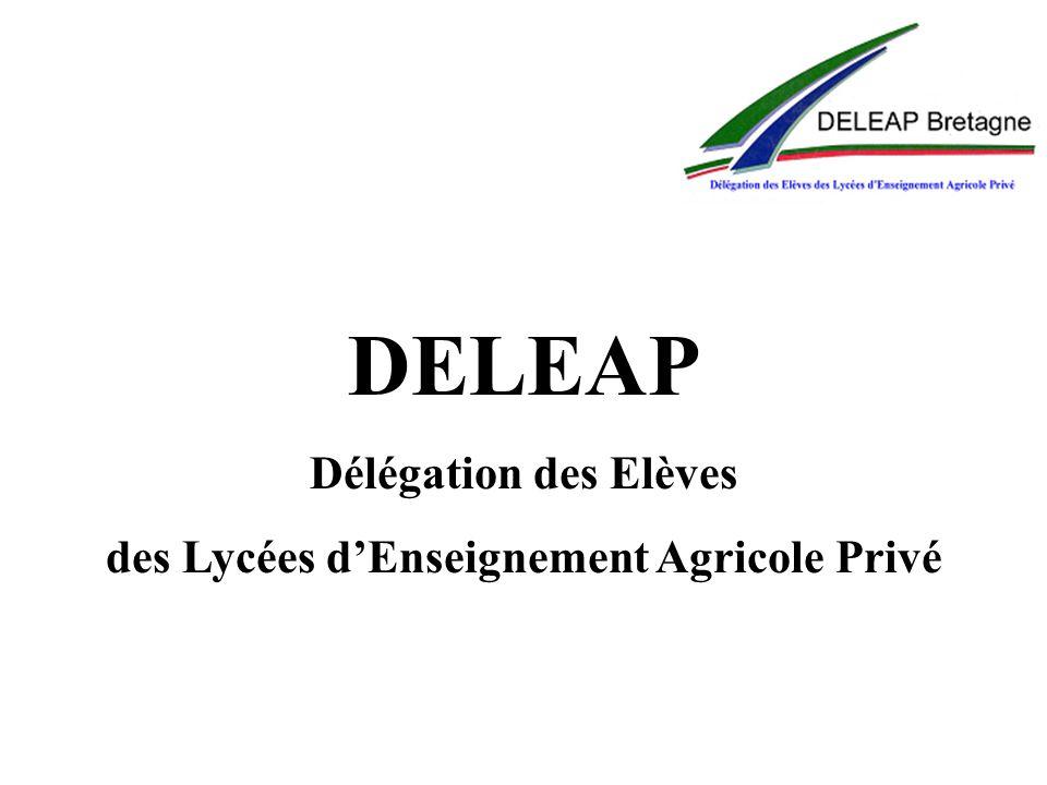 DELEAP Délégation des Elèves des Lycées dEnseignement Agricole Privé
