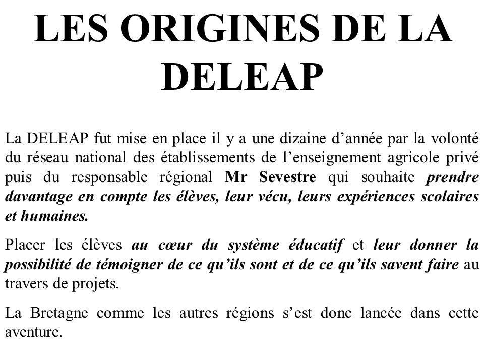 LES ORIGINES DE LA DELEAP La DELEAP fut mise en place il y a une dizaine dannée par la volonté du réseau national des établissements de lenseignement