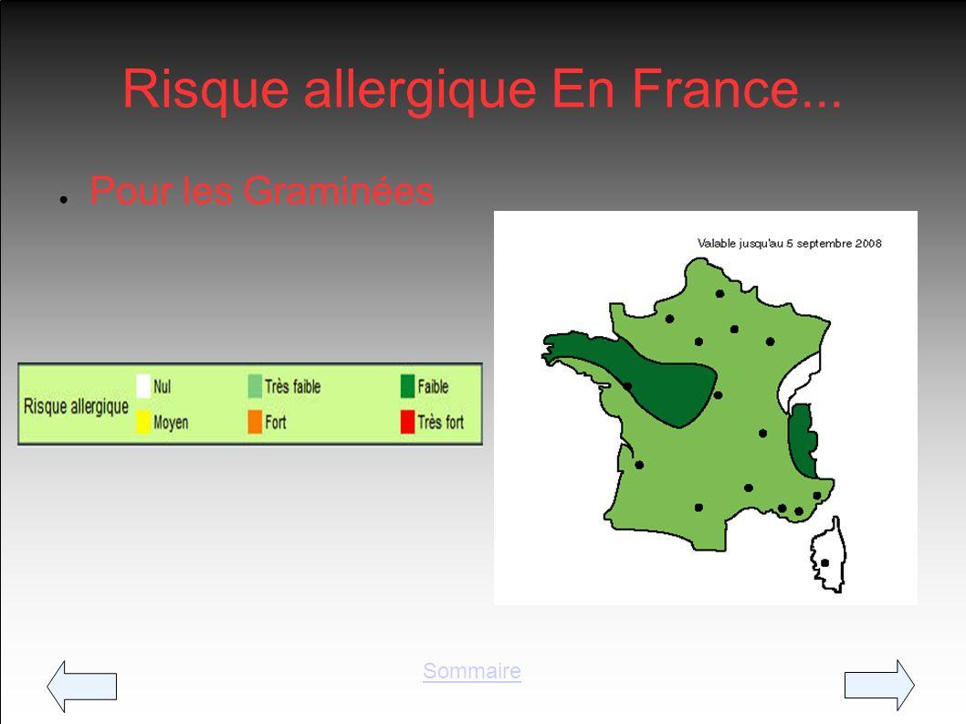 Risque allergique En France... Pour les Graminées Sommaire