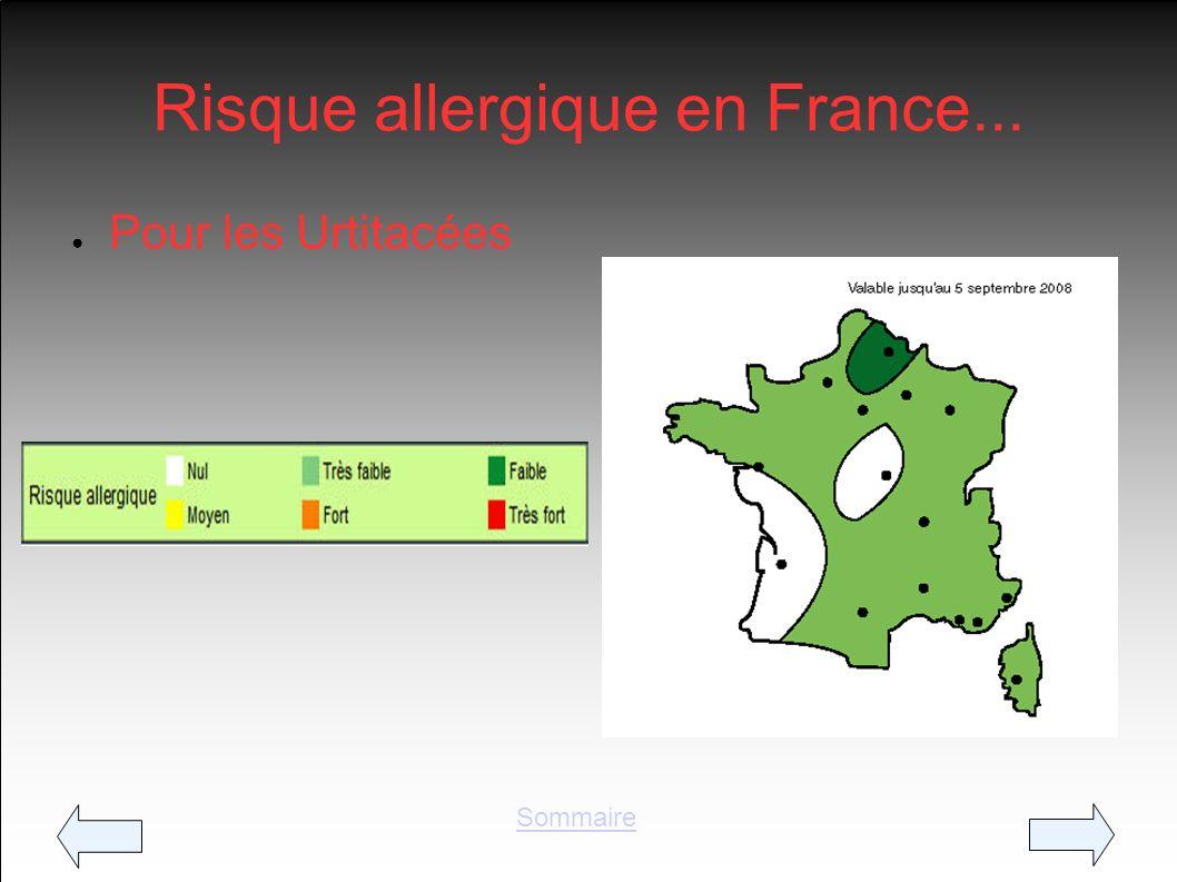 Risque allergique en France... Pour les Urtitacées Sommaire