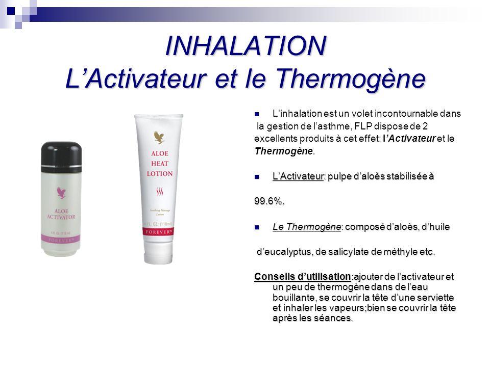 INHALATION LActivateur et le Thermogène Linhalation est un volet incontournable dans la gestion de lasthme, FLP dispose de 2 excellents produits à cet