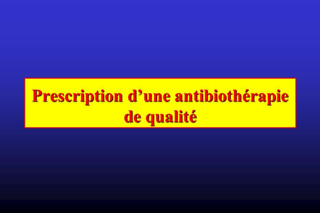 Prescription dune antibiothérapie de qualité