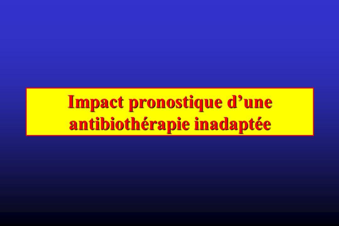 Impact pronostique dune antibiothérapie inadaptée