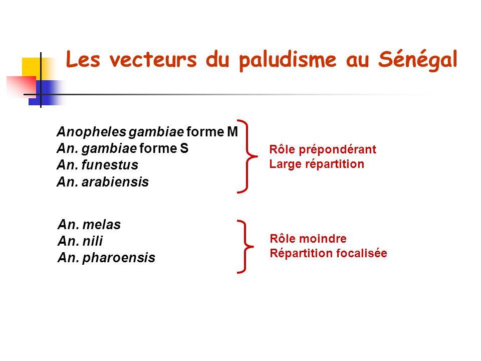 Les vecteurs du paludisme au Sénégal Anopheles gambiae forme M An.