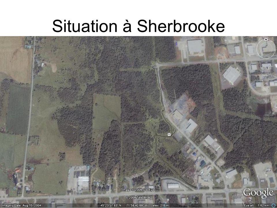 Situation à Sherbrooke
