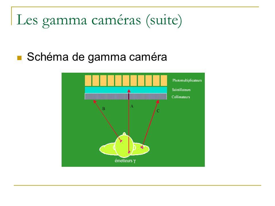 Les gamma caméras (suite) Schéma de gamma caméra