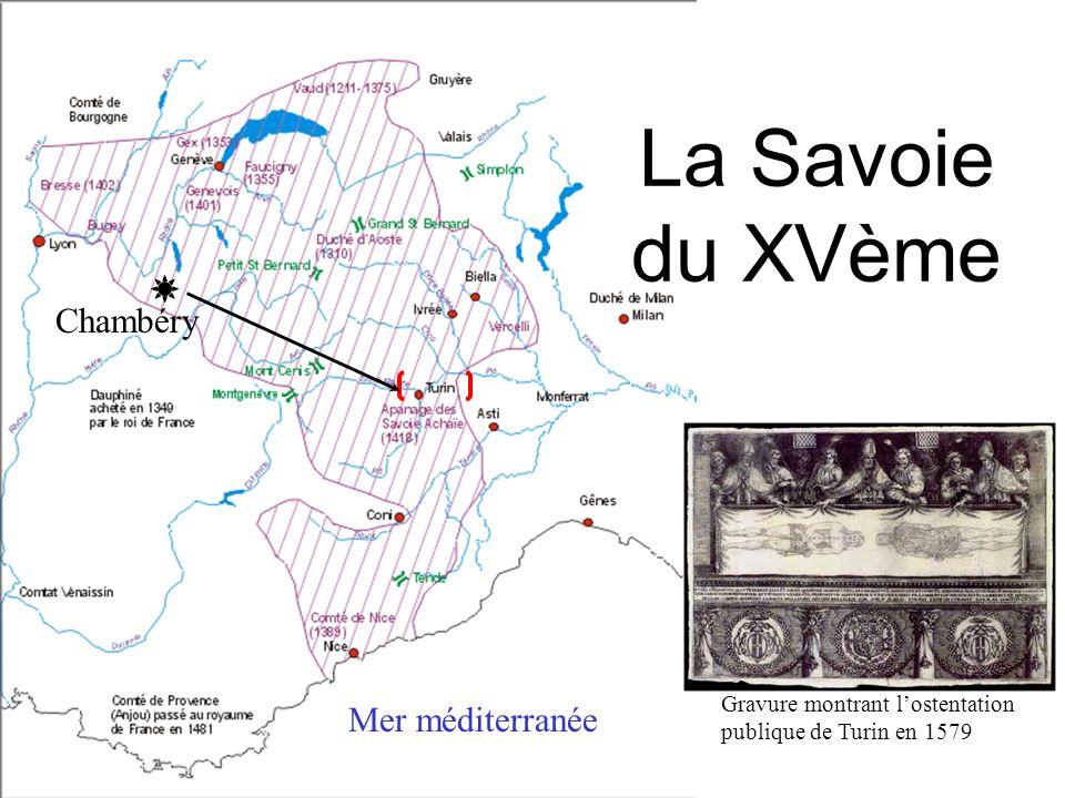 Litinéraire du Saint-Suaire EDESSE (30)-(726) CONSTANTINOPLE (639)-(944) ATHENES (1205) LIREY (1357) GENEVE (1453) CHAMBERY (1453) TURIN (1578)