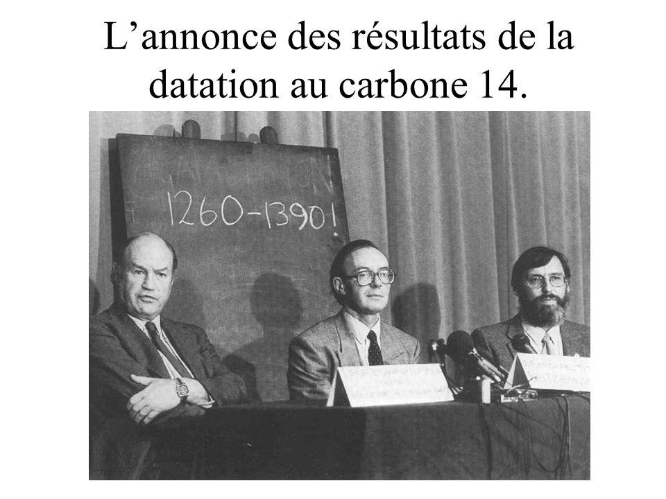 (doublement) Prélèvement des échantillons datés au carbone 14