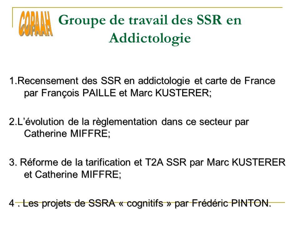 Groupe de travail des SSR en Addictologie 1.