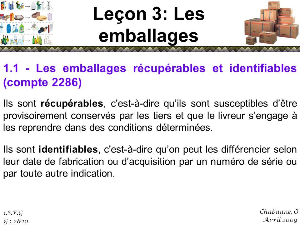 Leçon 3: Les emballages Chabaane.