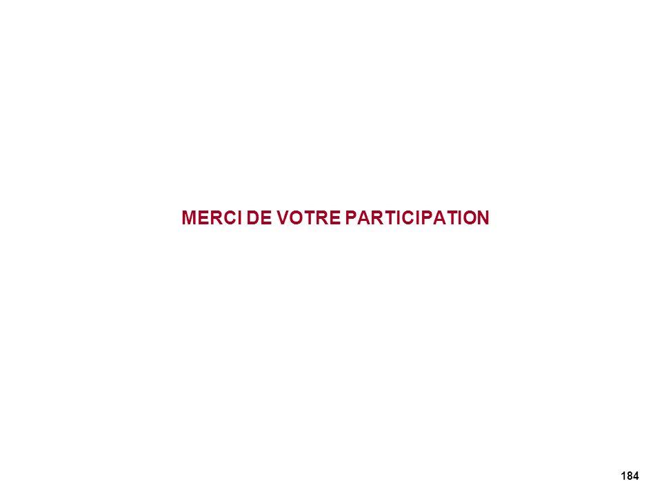 184 MERCI DE VOTRE PARTICIPATION