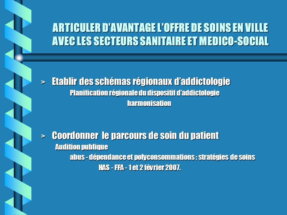 MIEUX PRENDRE EN CHARGE LES ADDICTIONS DANS LES ETABLISSEMENTS DE SANTE > Améliorer lorganisation de la prise en charge des addictions dans les établissements de santé.