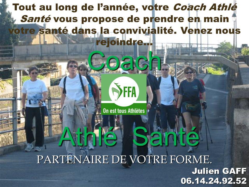 Coach Athlé Santé PARTENAIRE DE VOTRE FORME.