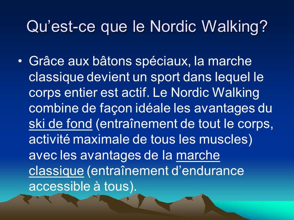 Quest-ce que le Nordic Walking.