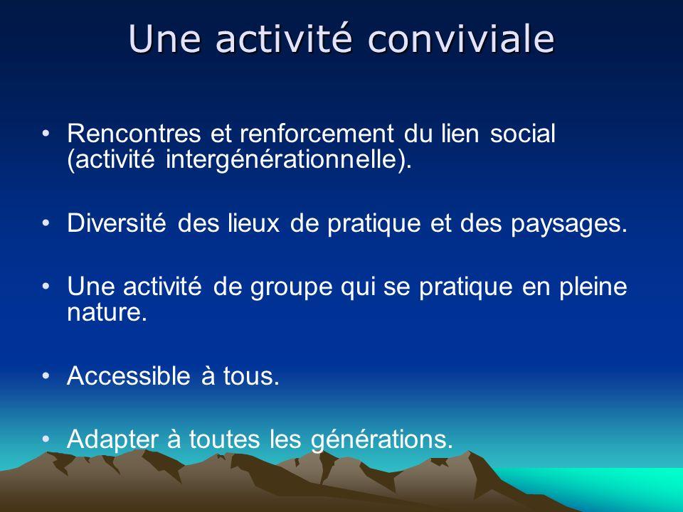 Une activité conviviale Rencontres et renforcement du lien social (activité intergénérationnelle).