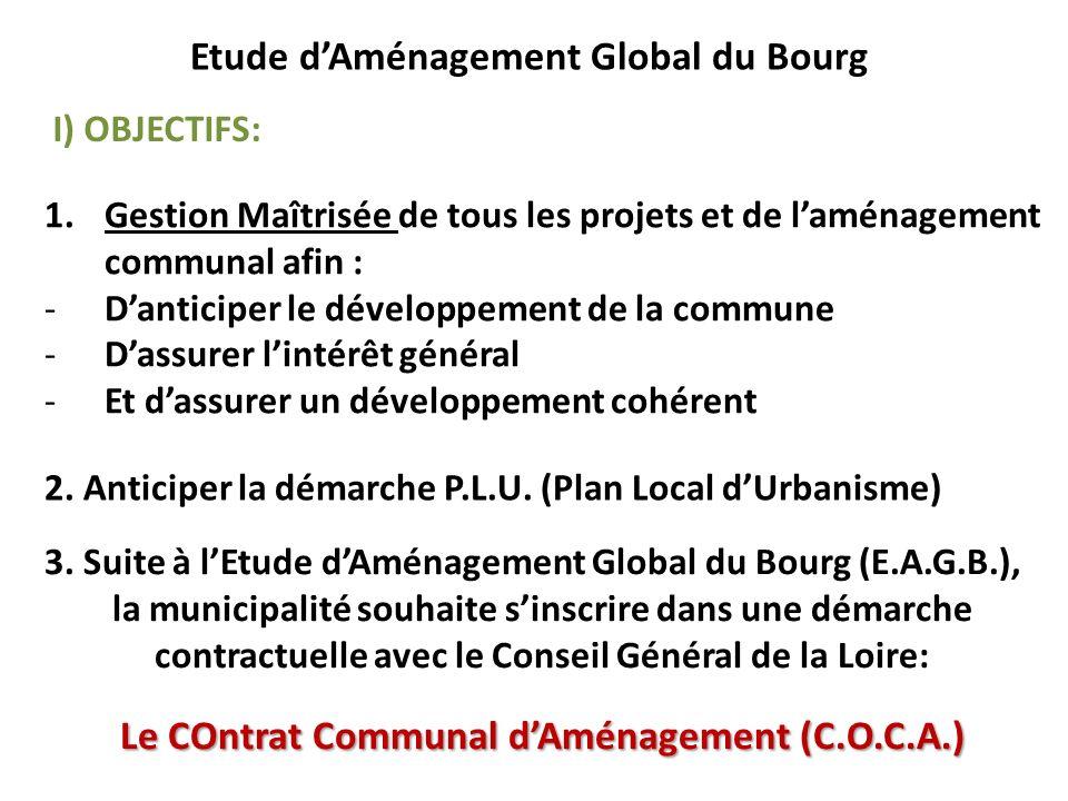 1.Gestion Maîtrisée de tous les projets et de laménagement communal afin : -Danticiper le développement de la commune -Dassurer lintérêt général -Et d