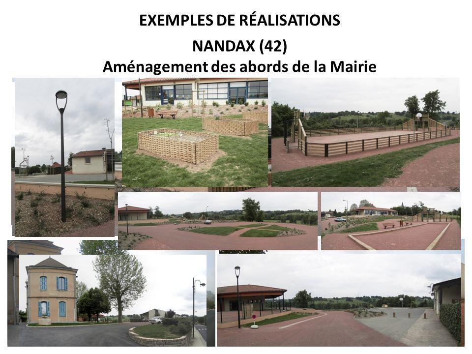 EXEMPLES DE RÉALISATIONS Le Crozet (42) Saint-Martin dEstreaux (42) Rigny sur Arroux (03)