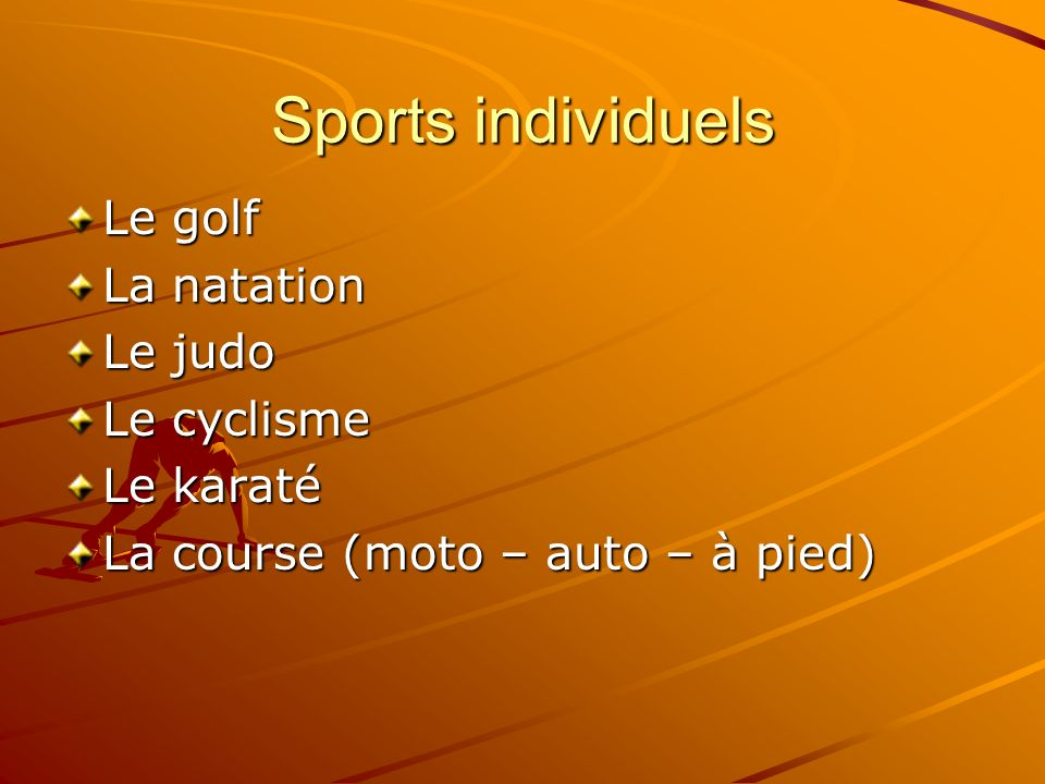Sports collectifs Le football Le rugby Le hand Le basket Le volley Le dogeball