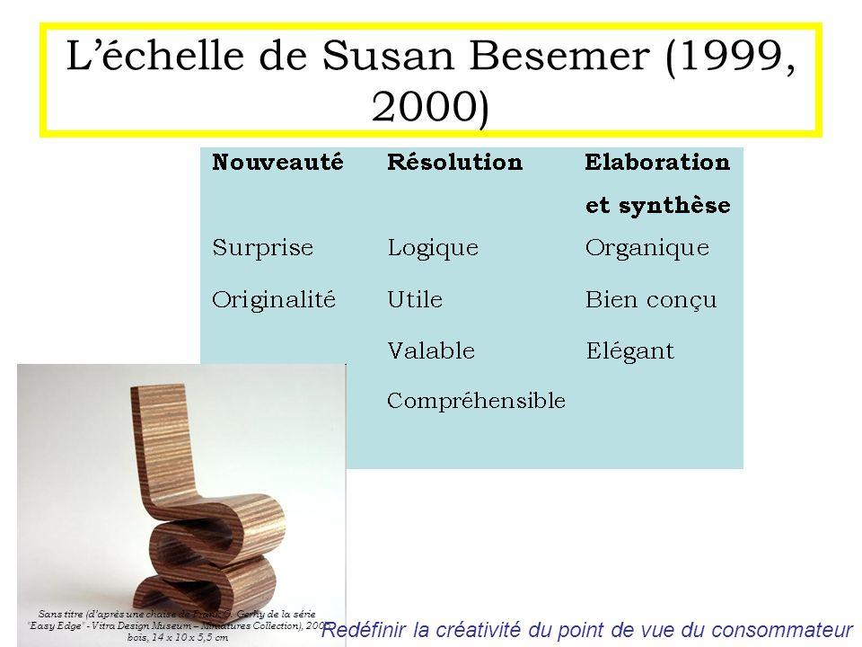 Léchelle de Susan Besemer (1999, 2000) Sans titre (daprès une chaise de Frank O. Gerhy de la série