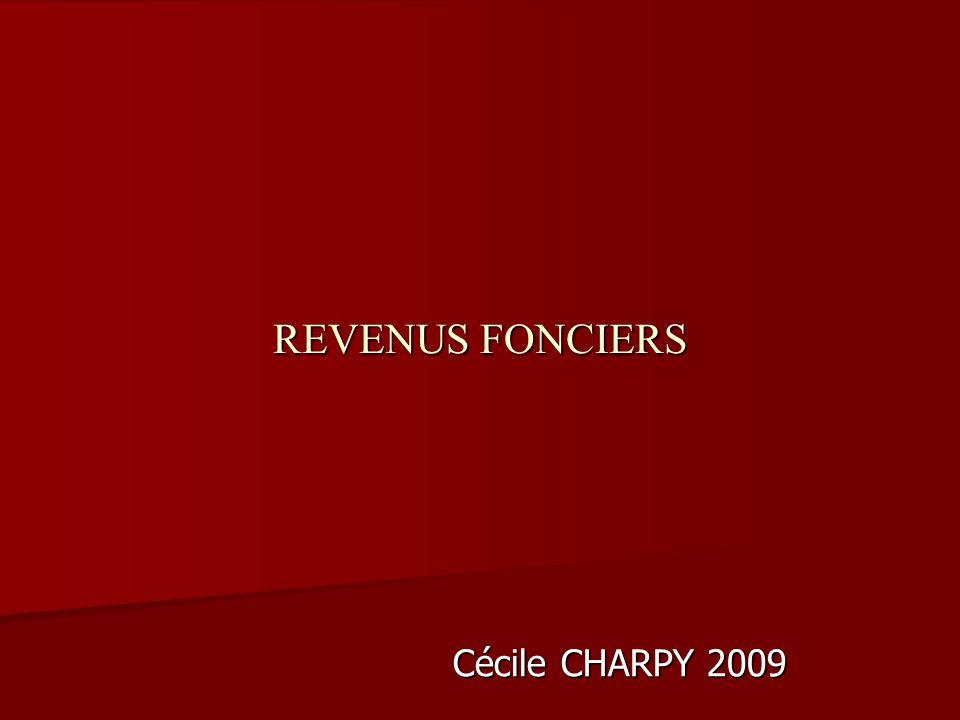 REVENUS FONCIERS Cécile CHARPY 2009