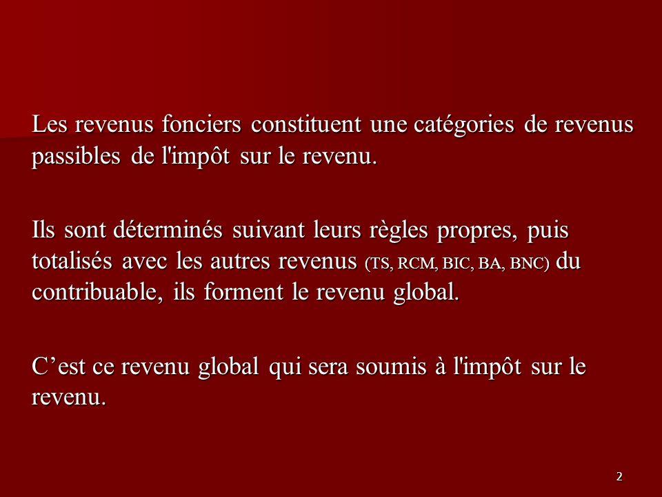 13 B - Le régime réel suite … Recettes (art.