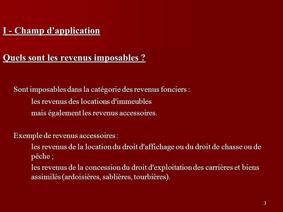 14 B - Le régime réel suite … Recettes (art.