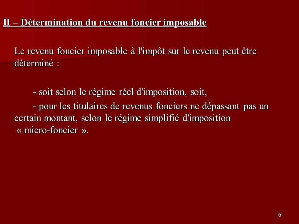 17 B - Le régime réel suite … Recettes (art.