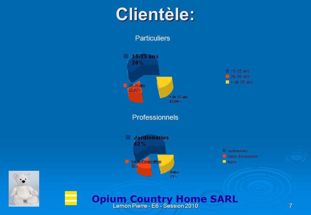 Lernon Pierre - E6 - Session 20107 Clientèle: Opium Country Home SARL Professionnels Particuliers