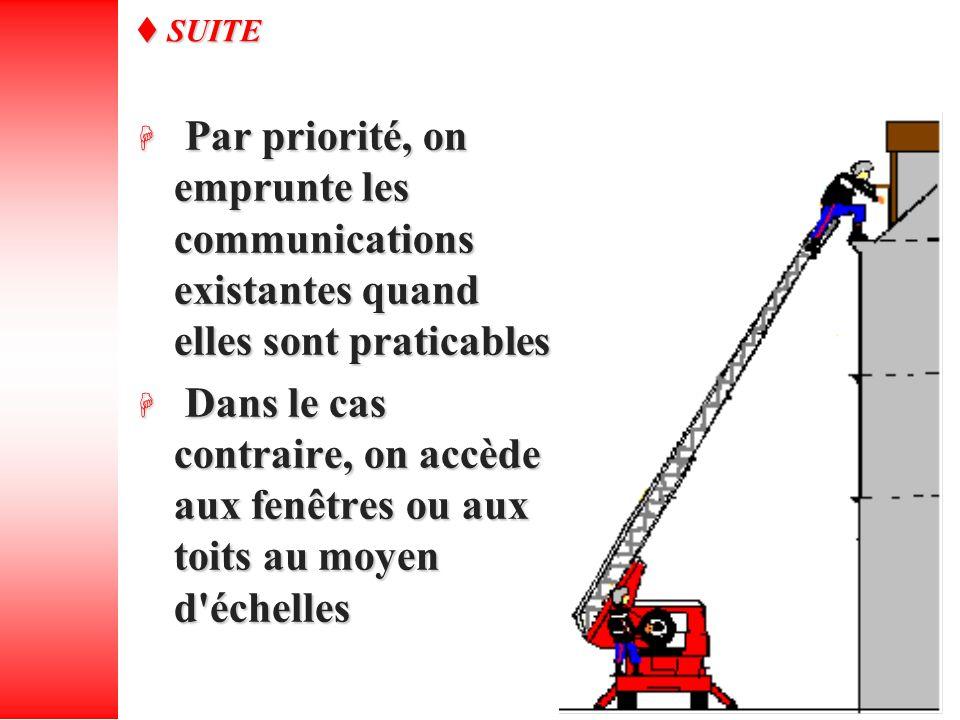 Par priorité, on emprunte les communications existantes quand elles sont praticables Par priorité, on emprunte les communications existantes quand ell