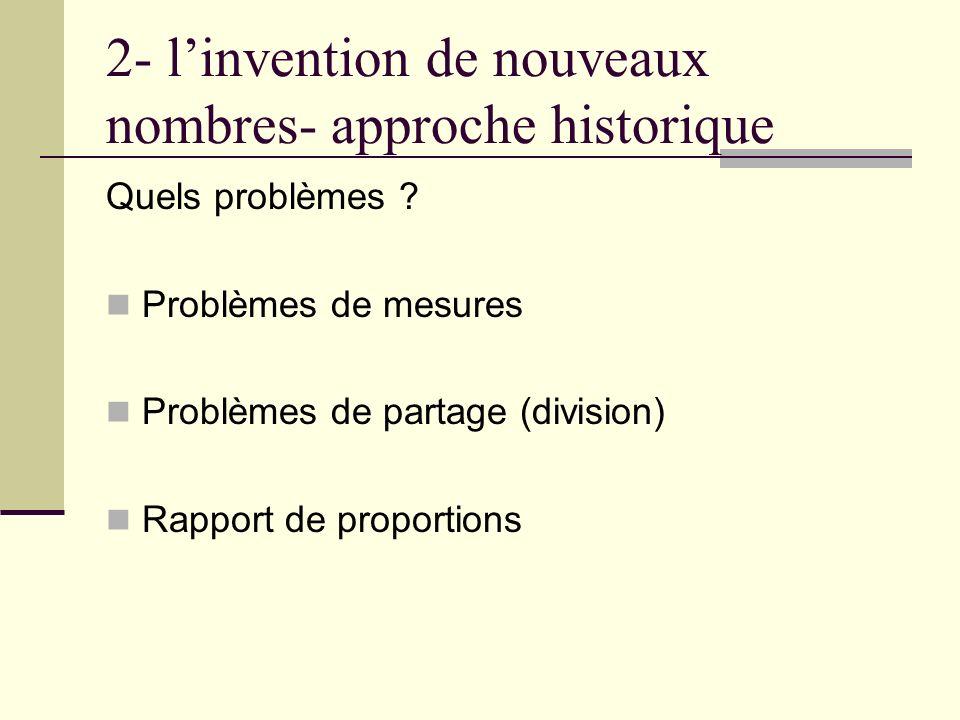 2- linvention de nouveaux nombres- approche historique Quels problèmes .