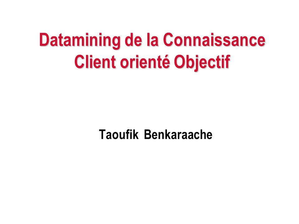 Datamining de la Connaissance Client orienté Objectif Taoufik Benkaraache