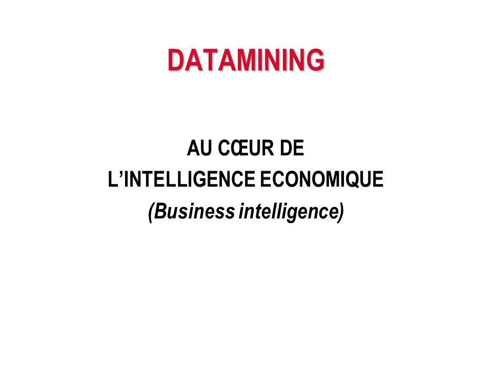 DATAMINING AU CŒUR DE LINTELLIGENCE ECONOMIQUE (Business intelligence)