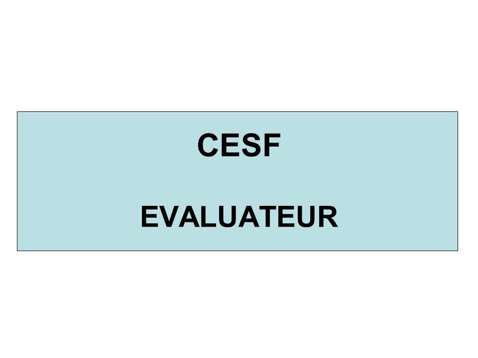 CESF EVALUATEUR