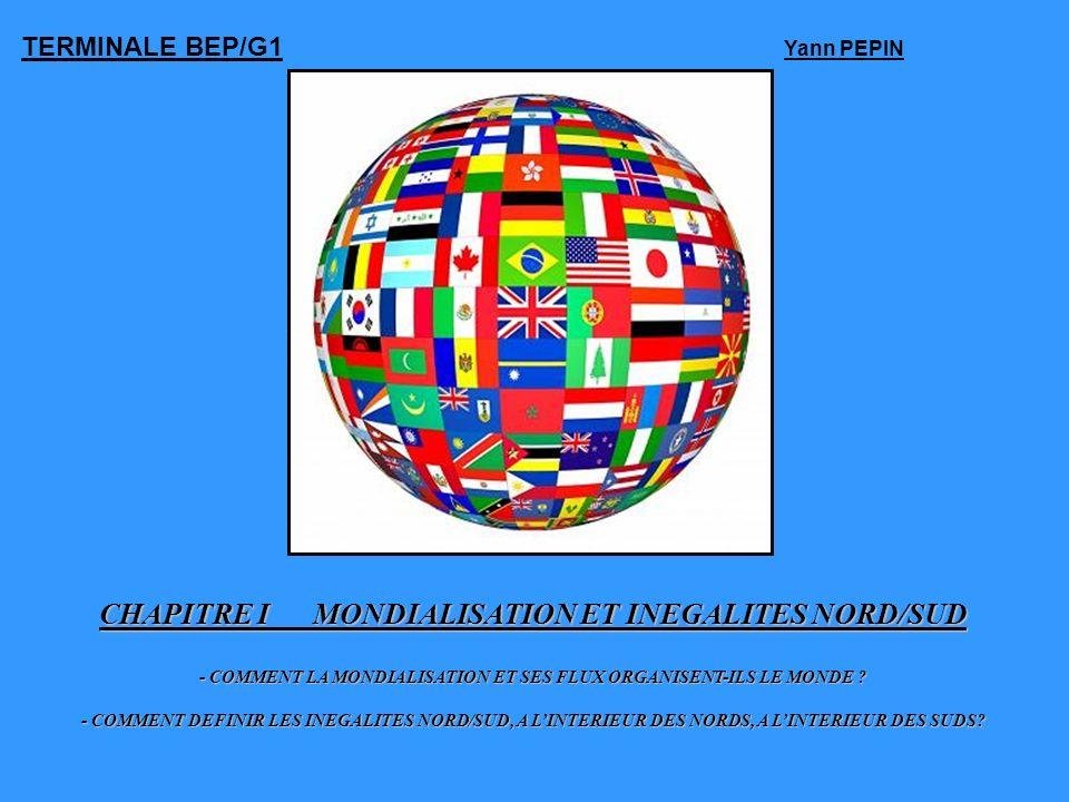 CHAPITRE IMONDIALISATION ET INEGALITES NORD/SUD - COMMENT LA MONDIALISATION ET SES FLUX ORGANISENT-ILS LE MONDE ? - COMMENT DEFINIR LES INEGALITES NOR