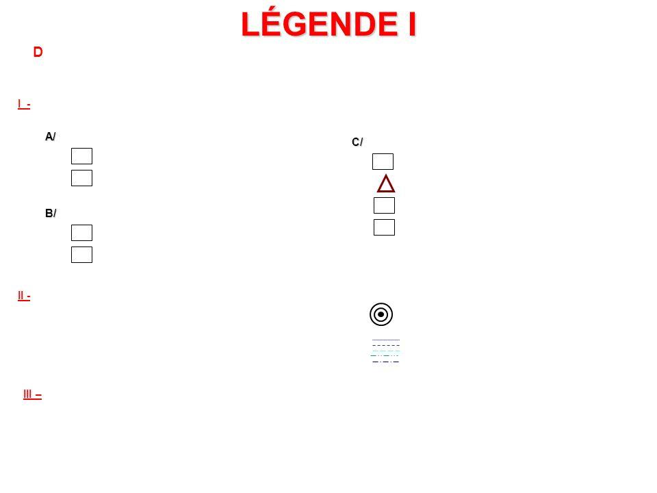 I) 1. II) III LEGENDE IIE